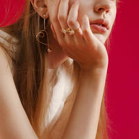 パーティーコーデに2タイプ指元のおしゃれビジューリング指輪
