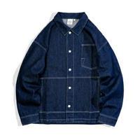 メンズ/青/黒/オーバーサイズ/デニムジャケット