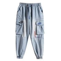 メンズ/刺繍/ボリュームポケット/デニム/ジョガーパンツ