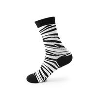 2足セットアニマルシマウマ風の模様モノトーンコットン綿靴下