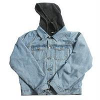 メンズ/リバーシブル/フード/異素材ミックス/デニムジャケット