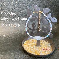 ブレスレッド『#Synchro』【Light blue】