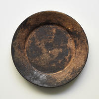 錆釉9寸リム皿 長野大輔
