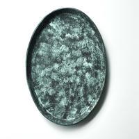 オーバル皿(緑) 岡崎慧佑