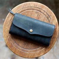 SARANAM / プエブロレザー長財布(ブラック)