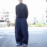 Handwerker /  wide trousers - コットンポリデニム