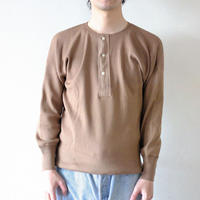 Olde Homesteader / HENLEY NECK (LONG SLEEVE) - SWEDISH ARMY RIB - RUSTY BROWN