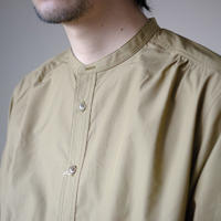 Handwerker /  collerless shirt - Typewriter Khaki