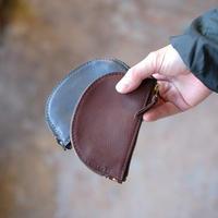 <Last 1 >Leather Wallet /  Halfmoon