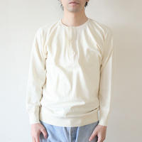 Olde Homesteader / HENLEY NECK (LONG SLEEVE) - INTERLOCK - IVORY