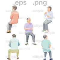 シニアイラスト (EPS , PNG )   se_194