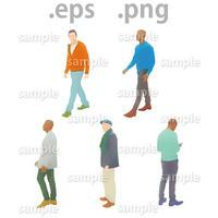 外国人イラスト (EPS , PNG )   gl_007