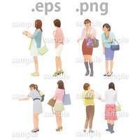 ファミリーイラスト (EPS , PNG )   fa_018