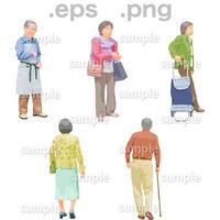 シニアイラスト (EPS , PNG )   se_128