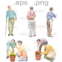 シニアイラスト (EPS , PNG )   se_151