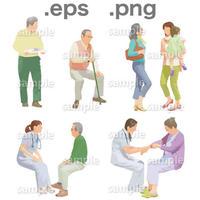 シニアイラスト (EPS , PNG )   se_009
