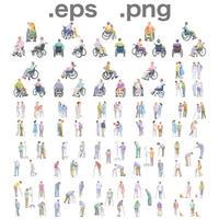 医療スタッフイラスト (EPS , PNG ) セット  se_set10