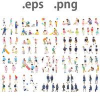 子供イラスト (EPS , PNG ) セット ch_set01