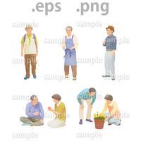 シニアイラスト (EPS , PNG )   se_015