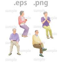 シニアイラスト (EPS , PNG )   se_016