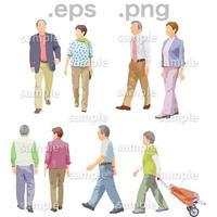 シニアイラスト (EPS , PNG )   se_110