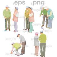 シニアイラスト (EPS , PNG )   se_153