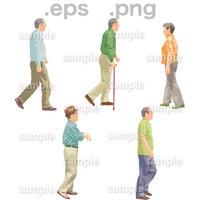 シニアイラスト (EPS , PNG )   se_143