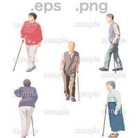 シニアイラスト (EPS , PNG )   se_040