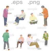 シニアイラスト (EPS , PNG )   se_030