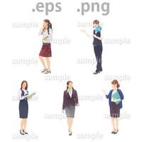 ビジネス人物イラスト (EPS , PNG )   bu_018