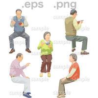 シニアイラスト (EPS , PNG )   se_182