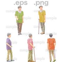 シニアイラスト (EPS , PNG )   se_127