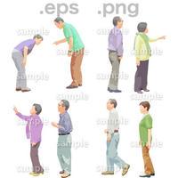 シニアイラスト (EPS , PNG )   se_122