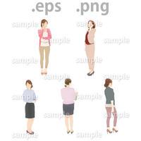 ビジネス人物イラスト (EPS , PNG )   bu_017
