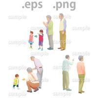 ファミリーイラスト (EPS , PNG )   fa_013