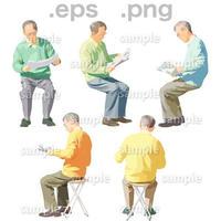 シニアイラスト (EPS , PNG )   se_055