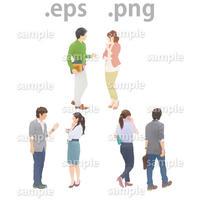 ビジネス人物イラスト (EPS , PNG )  bu_010
