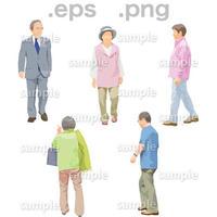 シニアイラスト (EPS , PNG )   se_132