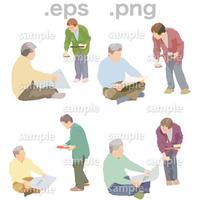 シニアイラスト (EPS , PNG )   se_031