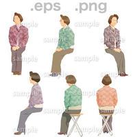 シニアイラスト (EPS , PNG )   se_080