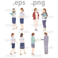 ビジネス人物イラスト (EPS , PNG )   bu_005