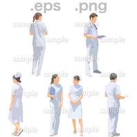医療スタッフイラスト (EPS , PNG )   se_267