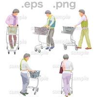 シニアイラスト (EPS , PNG )   se_146