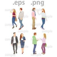 外国人イラスト (EPS , PNG )   gl_002