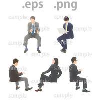 ビジネス人物イラスト (EPS , PNG )   bu_019