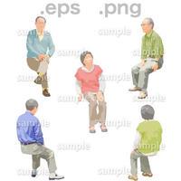シニアイラスト (EPS , PNG )   se_181