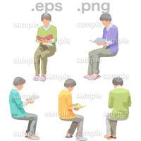 シニアイラスト (EPS , PNG )   se_170