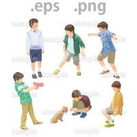子供イラスト (EPS , PNG )   ch_015