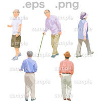 シニアイラスト (EPS , PNG )   se_137