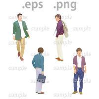 ファミリーイラスト (EPS , PNG )   fa_012